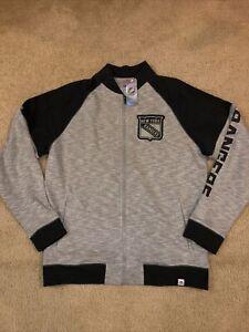 New York Rangers Majestic Full Zip Jacket Men's SZ L Gray Brand New