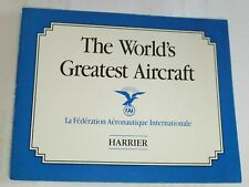 Franklin Mint Harrier The Worlds Greatest Aircraft Original Coa