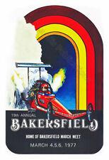 Famosa Drag Strip - 1977 Bakersfield Meet Vintage NHRA Drag Racing Poster