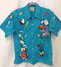 VINTAGE Dentist Shirt Costume W Novelty Miniature Toys 1970's 80's Size X- Large