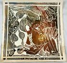 Original 1976 Linocut Print Zambia 76 by Listed Zambian Artist Fackson Kulya