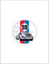 59 Brumos 911 Car Decal. Porsche Sticker Car Decal