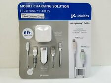 UbioLabs Mobile Charging Solution Lightning Cables for iPod, iPad, iPhone Sealed