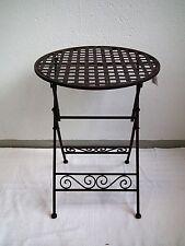 Beistelltisch Blumentisch Klapptisch Gartentisch – Metall Eisen – klappbar