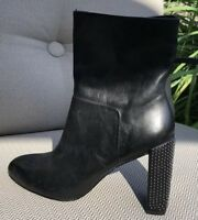 H Halston Studded Leather Boots - Size 6.5- BRAND NEW
