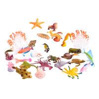 26Pcs Simulation Plastic Ocean Animal Model Figures Learning Educational Set