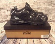 NEW in BOX Spalding Marathon Servies Mens Athletic Sneakers BLACK & SILVER SZ 13