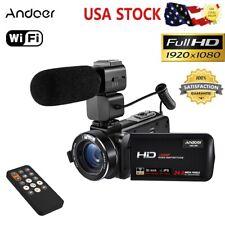 "Andoer WiFi 1080P 3.0"" TFT LCD 24MP Digital Video Camera Camcorder 16X Zoom+Mic"