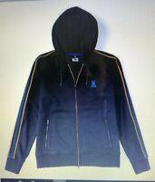 Men's SZ 2XL (8) Psycho Bunny Baker Full Zip Hoodie Hooded Sweatshirt navy blue