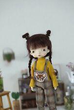 "QQ-92B  BJD Doll Mohair Wig Black Chocolate 1/8 5-6"" ; 1/6 6-7""; 1/4 7-8"""