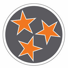 Tennessee Volunteers 2Inch Grey Tri-Star Car, Cooler Yeti Cup Sticker Decal Ncaa