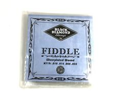 Black Diamond Fiddle Violin Strings N719 Silver Plated Wound