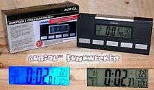 AURIOL 4-LD2469-3 Funk Uhrenwecker Uhr Wecker DUAL Alarm Snooze Temperatur Black