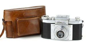 KW DRESDEN SLR Kamera PRAKTIFLEX Objektiv VICTAR 1:2.9 F=5cm M40 Vorkrieg * RAR