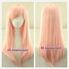 Elfen Lied Anime Long Light Pink straight Cosplay Wig Lovely girl C125+a wig cap