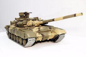 2.4Ghz 1/16 Russian T-90 Main Battle Tank Upgrade Super Metal w/Smoke & Sound RC