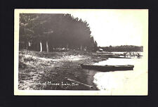 Moose Lake Minnesota MN 1947 RPPC City Park and Boat Docks, Swimmers on Dock