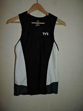 Womens TYR Jersey TRI TRIATHLON Size MEDIUM Nylon Spandex Black White