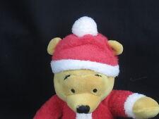 DISNEY WINNIE THE POOH Bear SLEEPER SANTA SUIT Hat SLIPPERS PLUSH STUFFED ANIMAL
