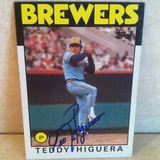 1986 Topps Ted Higuera Auto Signed Card