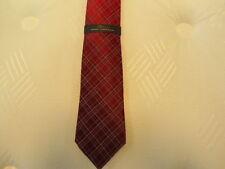 Mens Burgundy Marc Anthony 100% Silk Dress Tie NEW Plaid Design