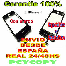 PANTALLA TACTIL PARA IPHONE 4 4G MARCO CRISTAL  TOUCH SCREEN NEGRO NUEVA A+ NEW