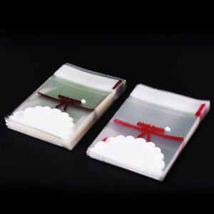 100x Lovely Lace Bow Print Gifts Bags Christmas Packaging Self-adhesive ZN VD^BI