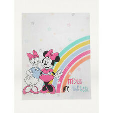 Minnie Mouse & Daisy Duck Reversible Cot Quilt 4 Tog Baby Bedding Cover Disney