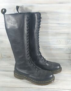 Dr Martens 11919 VIRGINIA LEATHER KNEE HIGH WOMENS BOOTS Black Casual