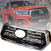 Front Grille Grill Black Chrome Genuine For Toyota Hilux Revo M70 M80 Rocco 2018