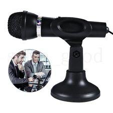 Desktop Microphone Mic 3.5MM for Laptop PC Computer MSN Skype Web Chat Gaming UK
