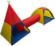 Unibelle Childrens Play Tent And Tunnel Set Kids Indoor Outdoor Garden Fun