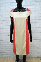 Vestito Tubino Donna COCONUDA Taglia L Abito Dress Woman Kleid Cotone Beige