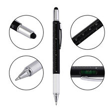 6in1 Black Touch Screen Capacitive Stylus Ballpoint Pen Screwdriver Multiusage