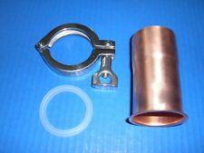 "Moonshine Keg Easy, Copper Still 2"" Pipe Column Adapter Tri Clamp alcohol"