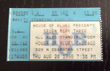 Seven Mary Three 7M3 Concert Ticket Stub House Of Blues Chicago 8/20/1998