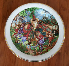 "Royal Doulton 10-3/4"" Spellbinder Moonlight Dance Wizard Plate"