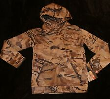 Under Armour Barren desert camo hoodie sweatshirt Boys Youth S YSM $46