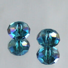 Free Shipping 30pcs 6x8mm Rondelle Faceted Austria Crystal Finding Spacer Beads