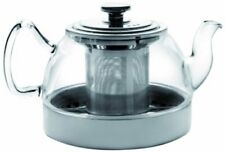 "ibili ""Kristall - Induction"" Teapot Set with Filter, Transparent/Silver, 800 Ml"