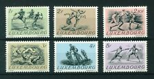 Luxembourg 1952 Olympic Games full set of stamps. Mint. Sg 553-558