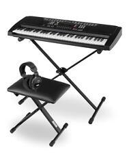 61 touches piano numérique Clavier Synthétiseur Support Banc Écouteurs Set