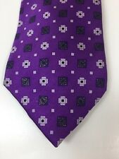 Burberry Purple Patterned Tie 100% Silk NEW RRP £165