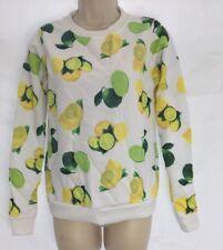 New H Henry Holland Lemon Lime White Long Sleeve Sweater Jumper Top UK 14 DD31