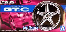 "Aoshima 1/24 Rays Volk Racing GT-C 19""  Wheel & Tire Set for Models 5461 (70)"