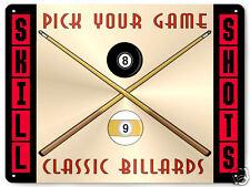 MANCAVE BILLARDS METAL SIGN POOL table stick balls chalk / GAME ROOM decor 195