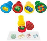 6 Bricks Ink Stamps - Pinata Toy Loot/Party Bag Filler Childrens/Kids Brick Lego