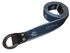 Polo Ralph Lauren Vintage Blue Nautical Ship Whales Beach Leather Belt XL