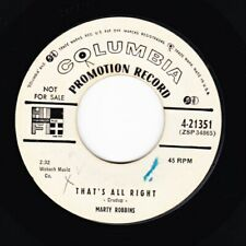 HEAR ROCKABILLY - MARTY ROBBINS - THAT'S ALL RIGHT / GOSSIP - COLUMBIA ORIGINAL