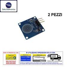2PZ TTP223B MODULO SENSORE TOUCH CAPACITIVO PULSANTE DIGITALE 1 TASTO ARDUINO
